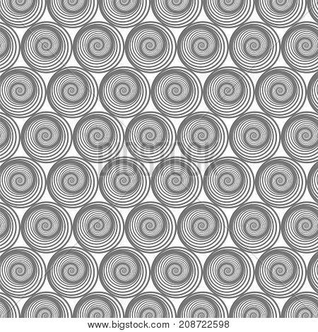 Spiral Line Background. Ornamental Texture. Oriental Geometric Ornament