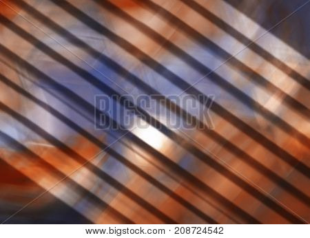 Abstract red and blue watercolor blurred grunge background in stripes. Wallpaper