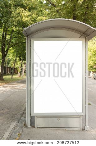 Isolated white Ad Advertisement billboard clipping path