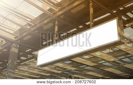 Train station Announcement white clipping path board