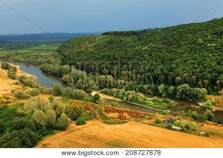River Mures in Arad, Romania, Europe