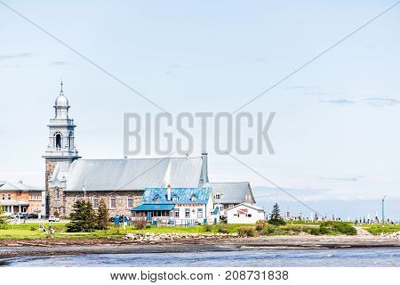 Sainte-luce, Canada - June 5, 2017: Coast Of Village In Gaspesie Region Of Quebec During Day With Bo
