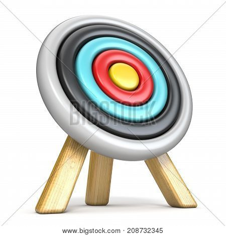 Archery Target Side View 3D