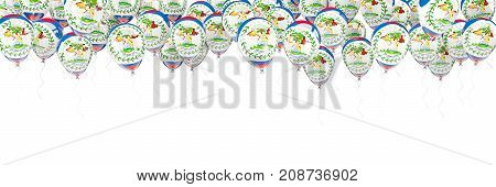 Balloons Frame With Flag Of Belize