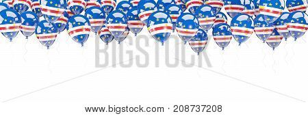 Balloons Frame With Flag Of Cape Verde