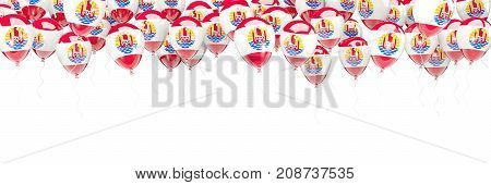 Balloons Frame With Flag Of French Polynesia