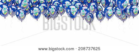Balloons Frame With Flag Of Guam