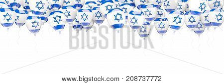 Balloons Frame With Flag Of Israel