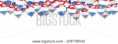 Balloons Frame With Flag Of Netherlands