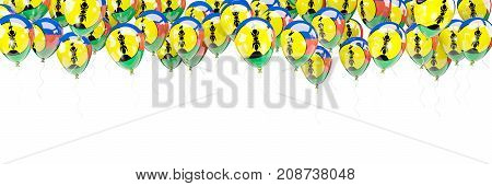Balloons Frame With Flag Of New Caledonia