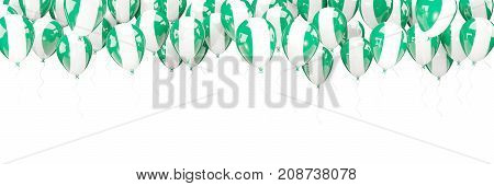 Balloons Frame With Flag Of Nigeria
