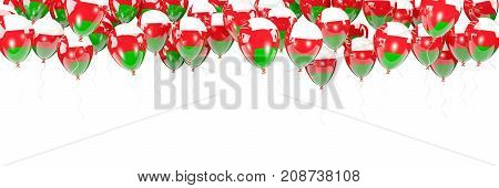 Balloons Frame With Flag Of Oman