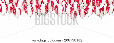 Balloons Frame With Flag Of Peru