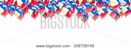Balloons Frame With Flag Of Philippines