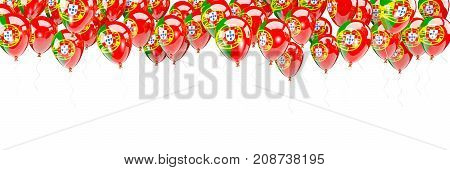 Balloons Frame With Flag Of Portugal