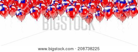 Balloons Frame With Flag Of Taiwan