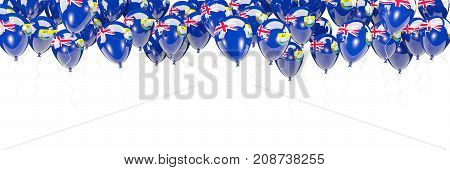 Balloons Frame With Flag Of Saint Helena
