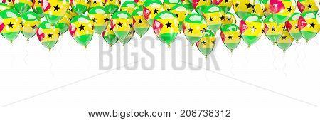 Balloons Frame With Flag Of Sao Tome And Principe