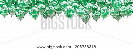 Balloons Frame With Flag Of Saudi Arabia