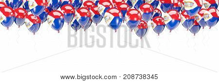 Balloons Frame With Flag Of Sint Maarten