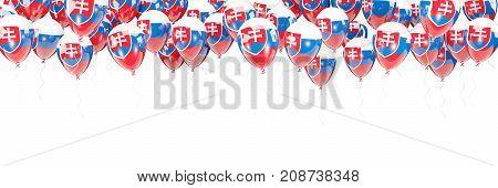 Balloons Frame With Flag Of Slovakia