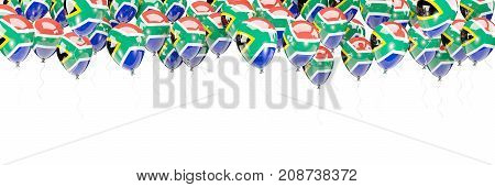 Balloons Frame With Flag Of South Africa