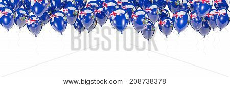 Balloons Frame With Flag Of South Georgia And The South Sandwich Islands