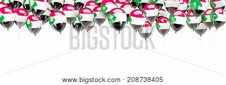 Balloons Frame With Flag Of Sudan