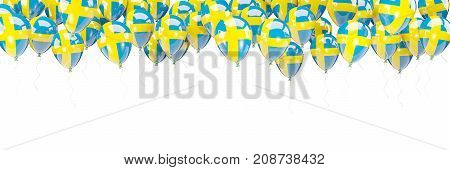 Balloons Frame With Flag Of Sweden