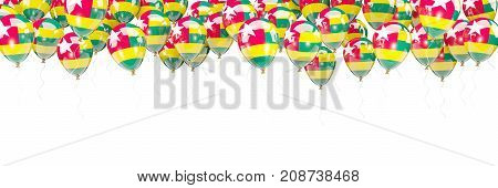 Balloons Frame With Flag Of Togo