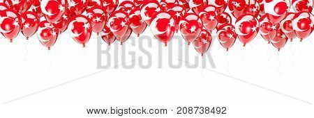 Balloons Frame With Flag Of Turkey