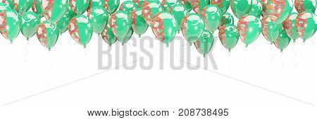 Balloons Frame With Flag Of Turkmenistan