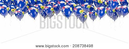 Balloons Frame With Flag Of Turks And Caicos Islands