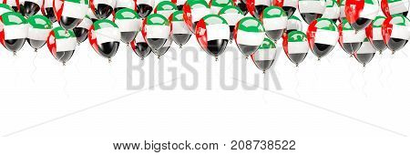 Balloons Frame With Flag Of United Arab Emirates