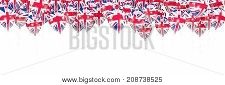 Balloons Frame With Flag Of United Kingdom