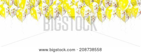 Balloons Frame With Flag Of Vatican City