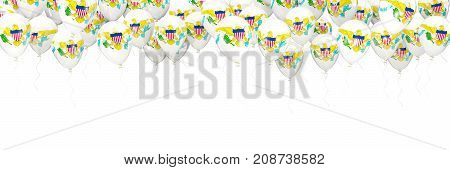 Balloons Frame With Flag Of Virgin Islands Us