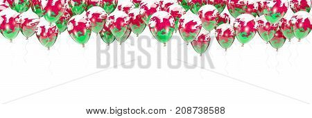 Balloons Frame With Flag Of Wales