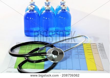 An concept image of medicine cost - healthcare