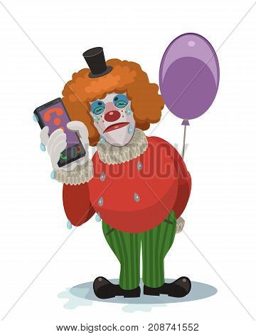 The clown is crying the feast is cancelled this information to send on the phone to loved ones friends and acquaintances and tell them that they are sad that the holiday will not