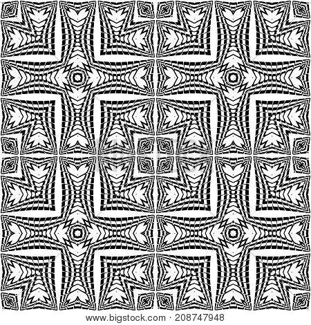 Design Seamless Monochrome Lacy Pattern