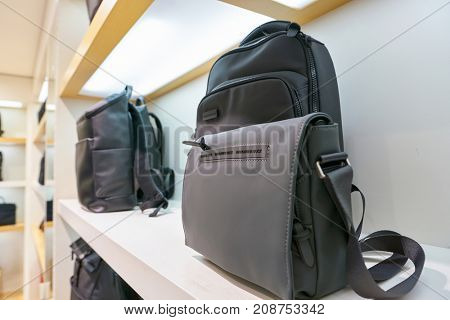 BUSAN, SOUTH KOREA - MAY 28, 2017: bags on display at a store at Lotte Department Store.