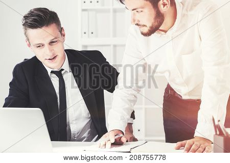 Two Businessmen At A Table, Office