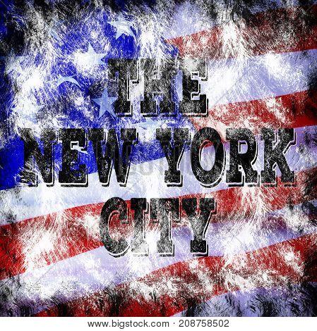 New York City Art. Street Graphic Style Nyc. Fashion Stylish Print. Template Apparel, Card, Label, P