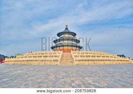 Beijing Temple of Heaven the icon of Beijing China.