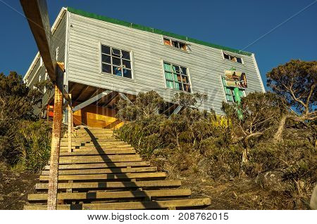 Laban Rata,Sabah-March 12,2016:Laban Rata hostel built at 3,273 meter above sea level in Mountain Kinabalu,Sabah.It is for climbers to rest before summiting to the mountain Kinabalu peak.