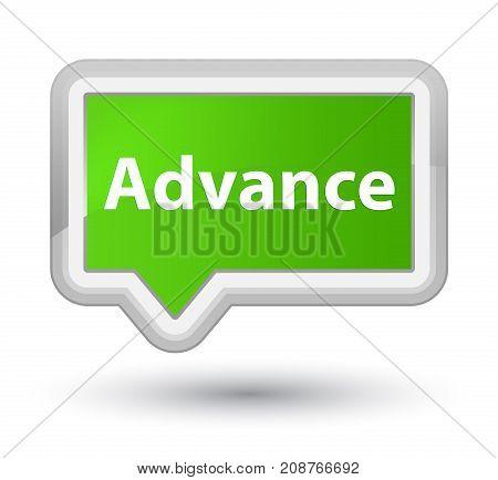 Advance Prime Soft Green Banner Button