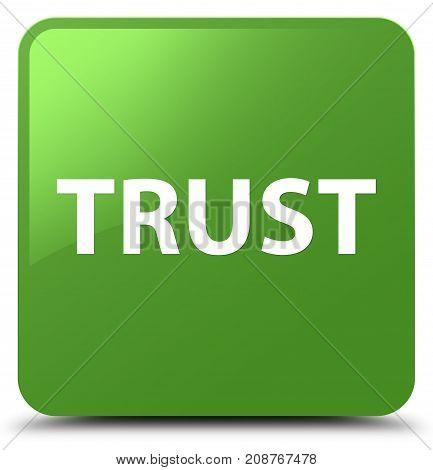 Trust Soft Green Square Button