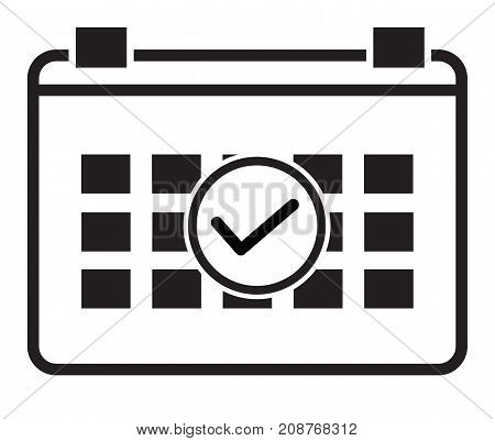 event schedule icon on white background. event schedule sign. flat style.
