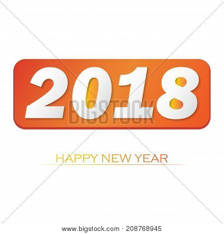Happy new year 2018 vector background. Vector brochure design template